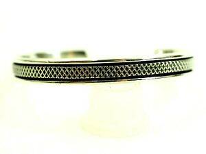 Wonderful-Taxco-Mesh-Pattern-Cuff-Bracelet-Sterling-Silver