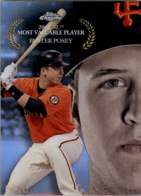 2017 Topps Chrome MLB Award Winners #MAW12 Buster Posey - NM-MT