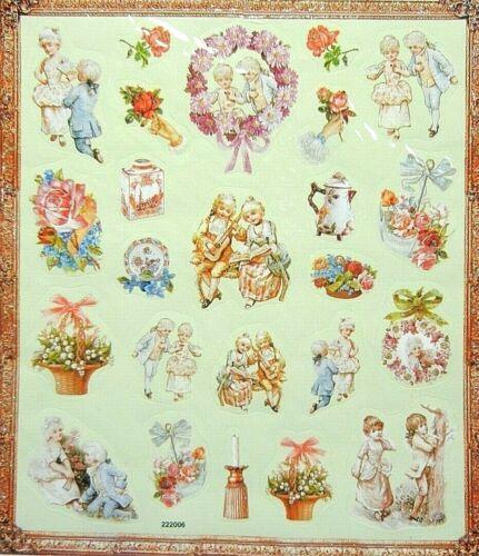 Victorian Era Glitter 1 Sticker Sheet Per Pack Lot Of 5