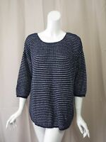 Chico's Dark Blue Sweater Top Size 3 Or 4