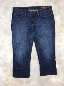 X2-Women-039-s-Quality-Denim-Dark-Wash-Cropped-Denim-Jeans-Sz-10