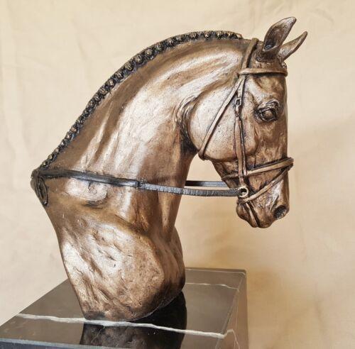 Statue Dressage Horse Warmblood Sculpture Figurine