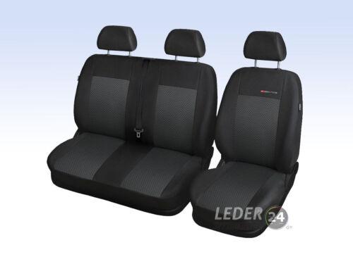 Ford Transit VII recuadro 9 escaños a partir de 2012 maßgefertigt fundas para asientos funda del asiento Velour