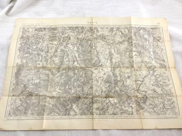 1912 Antik Französisch Landkarte Nancy Grand Est Region Frankreich Alte Original Seien Sie In Geldangelegenheiten Schlau