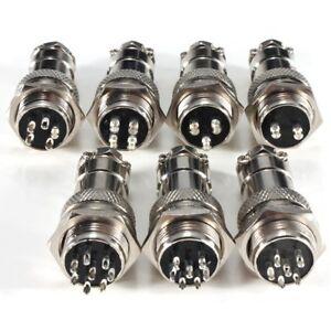 5Pair-GX12-16-20mm-2-12Pin-female-amp-male-connector-plug-socket-metal-aviation-plug