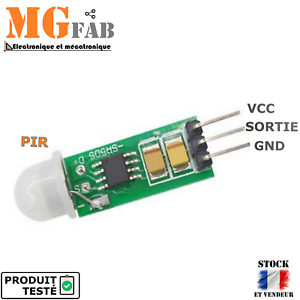 Module mini capteur de mouvement infrarouge PIR HCSR505HC-SR505 ARDUINO DIY