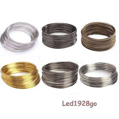 Wholesale 100-500 Loop Memory Steel Wire Cuff Bangle Bracelet For Jewelry DIY