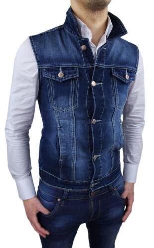 Jacket Sleeveless Jeans Man Vest Jacket Slim Fit Tight S M L XL XXL