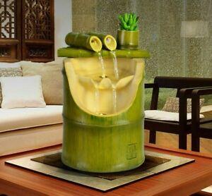 Bamboo Tube Water Fountain Trough Filter Recycling Feng Shui Desktop Decoration
