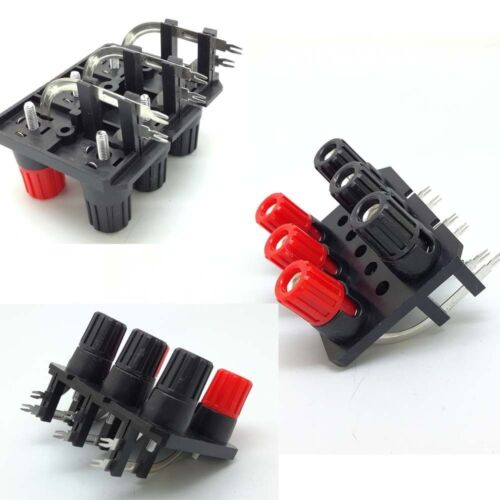 Black and Red 6-Pins 6 Positons turn Type Speaker Terminal Board Connector