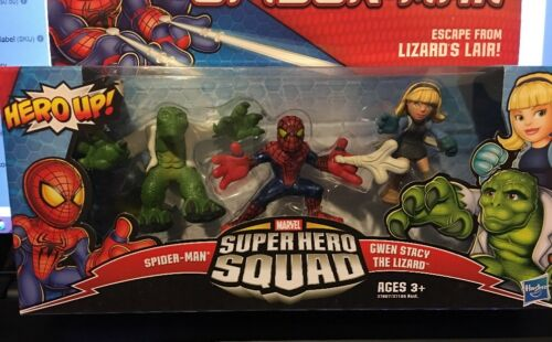 Gwen Stacy /& The Lizard The Amazing Spider-man Super Hero Squad ~ Spider-man