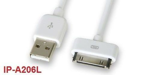 IP-A206L USB Data Sync Cable for iPod /& iPhone 6 ft
