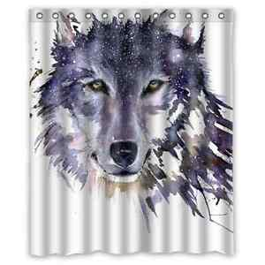 Image Is Loading Brand New Wolf Shower Curtain 60 X 72