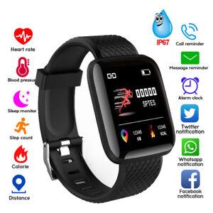 Montre Connectée Cardio fréquencemètre Tension Artérielle Bracelet Podomètre