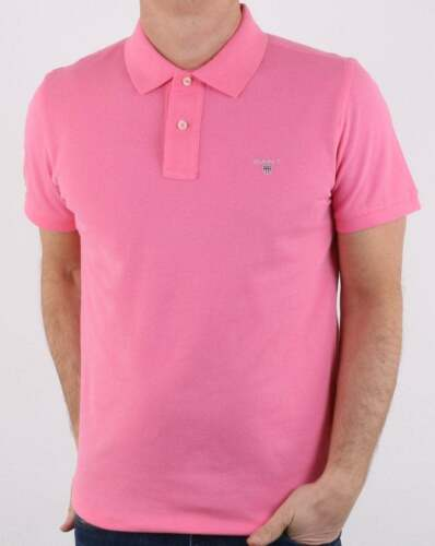premium soft pique cotton Gant Pique Rugger Polo in Pink Rose