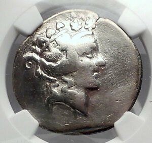 THASOS-Thrace-148BC-Dionysus-Hercules-Silver-Greek-Tetradrachm-Coin-NGC-i59958