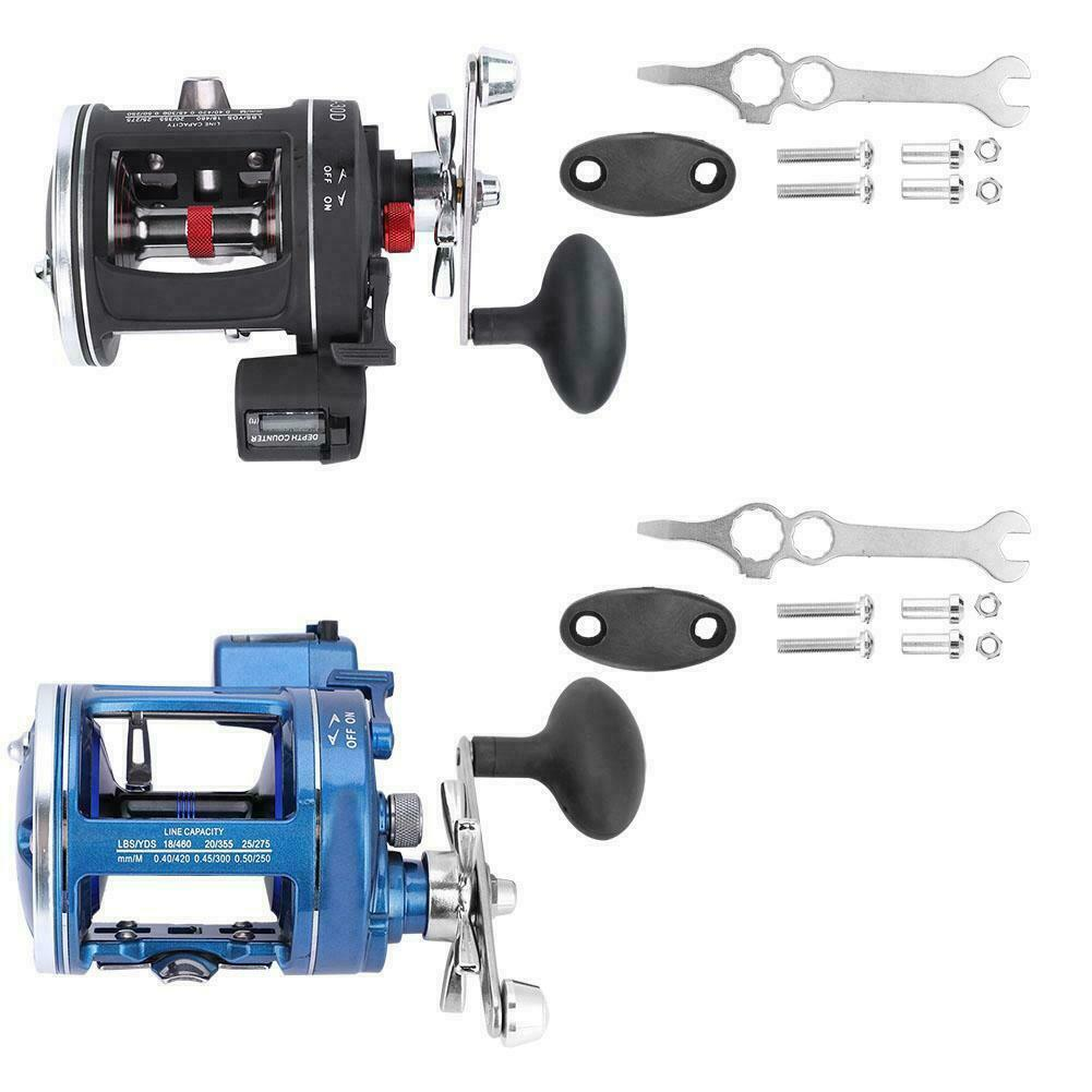 12BB Aluminum Alloy Fishing Wheel  Fishing Reel with Line Counter for Fishing   fast shipping