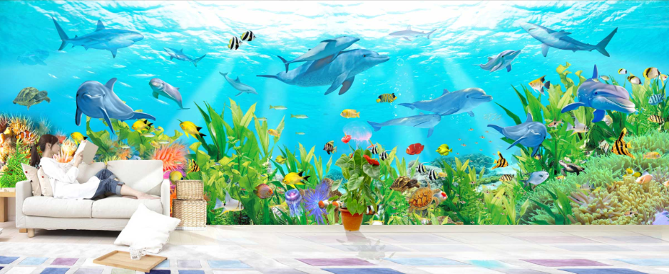 3D Sunlight Seabed 87 Wall Paper Murals Wall Print Wall Wallpaper Mural AU Kyra