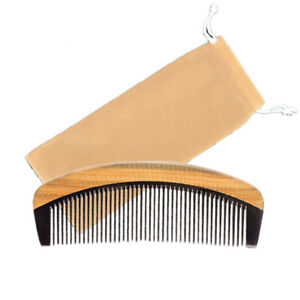 Beard-Comb-Pocket-Hair-Styling-Ox-Horn-Sandalwood-Combover-Mohawk-Stubble-Xmas
