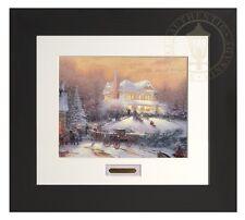 Thomas Kinkade Victorian Christmas II Home Collection Espresso Frame