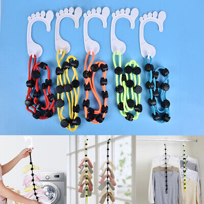 Loc A Sok Colored Sock-Lock Mixed Laundry Organiser 16 Singles Blue 4 Doubles Pack