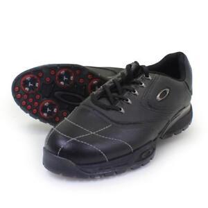 oakley prime tye black leather golf shoes 9 us mens new