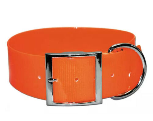"Dog Collar 2"" Wide ,Pet Collar, Safety Collar, Yard Collar Blaze Orange"