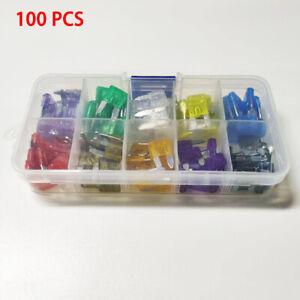 Hot-100Pcs-Box-Case-Assorted-Auto-Car-Boat-Truck-Standard-Blade-Fuse-Kit
