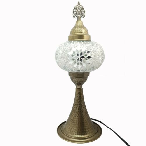 Tall Turkish Moroccan Colourful Glass Mosaic Lamp Light Table CE Certified