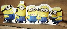"""Minions Dave, Steve, Tim, Mark, Kevin, Figure Tabletop Display Standee 10"""" Long"""