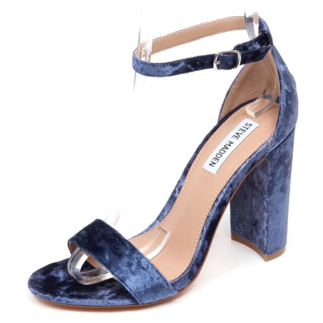 purchase cheap 95757 b61a6 F0998 sandalo donna velvet light blue STEVE MADDEN scarpe velluto shoe woman