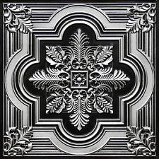 # 206 - Antique Silver 2'x2' PVC Decorative Ceiling Tile Glue Up/Grid