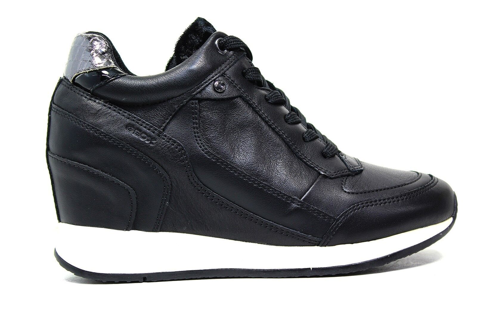 Geox sneaker Autunno con zeppa colore nero D540QA 00085 C9997 Autunno sneaker Inverno 2017 2018 d20d48
