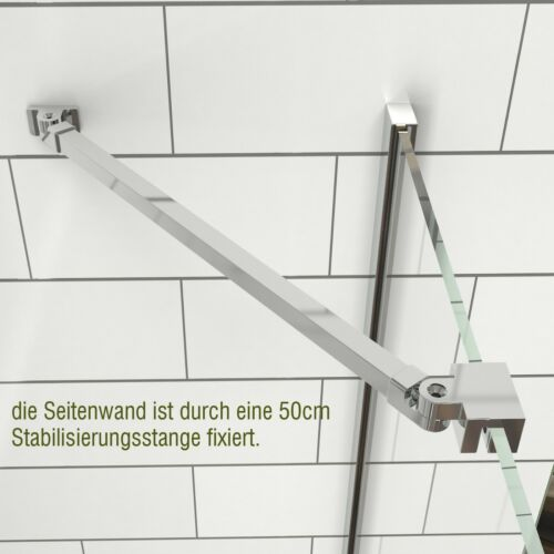 Duschabtrennung Eckeinstieg Scharniertür Dusche NANO-Glas Duschwand Duschkabine