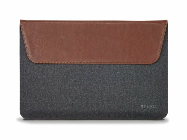 Maroo Synthetic Leather Folio Sleeve Case for Surface Pro 3 Pro 4 (Dark Brown)