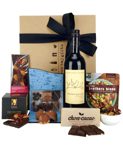 Byron Bay Gifts Australian Wine & Chocolate Gifts Hamper 750mL
