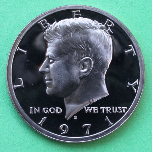 1971 S Proof Kennedy Half Dollar Coin 50 Cent JFK from Proof Set