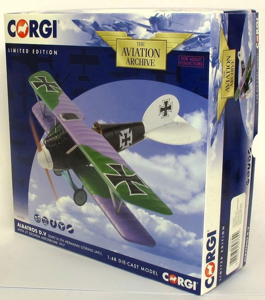 CORGI AA37807 Albatros D. Va, 2049 16 LTN Hermann Goering Jasta 27-carton Fresh