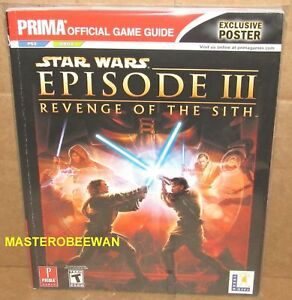 Star Wars Episode Iii Revenge Of The Sith Guide Book Ps2 Xbox New Poster 9780761551645 Ebay