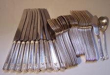 Holmes Edwards IS 1923 Century silver plate flatware Leech design 48 piece