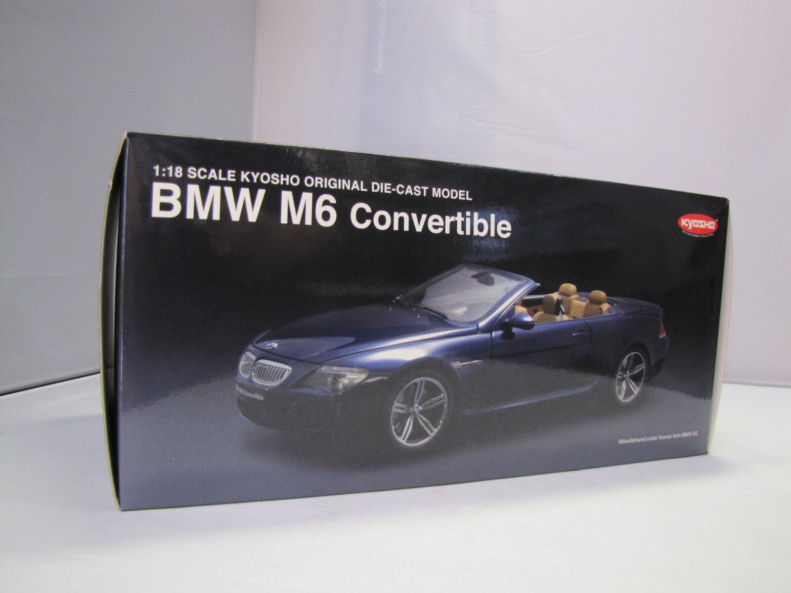 08704bl Kyosho BMW m6 Convertible (bleu) - rare - 1 18