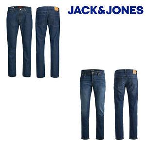 Jack-amp-Jones-Mike-Original-Mens-Jeans-Regular-Fit-Azul-Denim-Algodon-Pantalones-5-Pockt