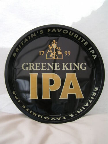 """IPA Green King 12/"""" Metal Serving Beer Bar Drinks Tray Home//Pub//Party New"""