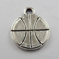 Wholesale free ship 100pcs tibet silver basketball charms 18x14mm