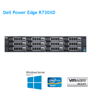 Dell-PowerEdge-R730XD-2-x-E5-2673-V3-2-40Ghz-12-Cores-128GB-RAM-H330-aste-Caddy