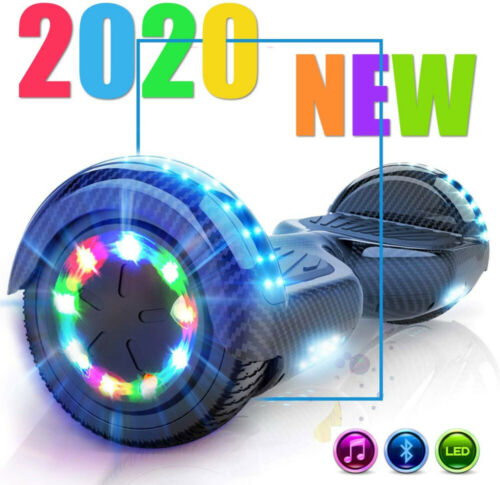 "2020 BLUETOOTH HOVERBOARD 6,5/"" E-SCOOTER LUCI LED E SELF BALANCING SCOOTER"