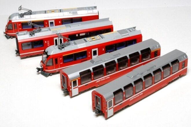 Nuovo Kato N Gauge 10-1318 RhB Bernina Express 5 Car Powerosso Set