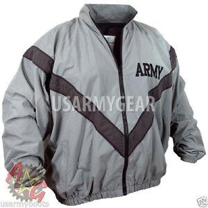 US-Army-Military-Physical-Training-Fitness-PT-Uniform-Top-Sweat-Jacket-DSCP-USGI