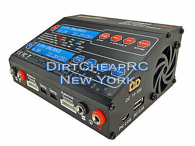 Dual 2 Port 100Watt 10/6Amp ACDC Balancing Battery Charger LiPo UP100AC HRC44232