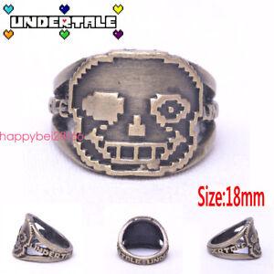 Undertale-Sans-Head-3d-Cartoon-Ring-Brozen-Metal-Jewelry-Cosplay-Otaku-Men-Gift